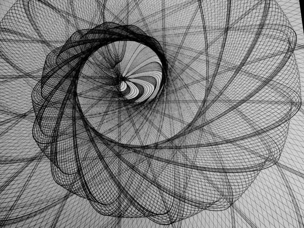 vers l'Abîme, dessin géométrique créé avec le PIADESS