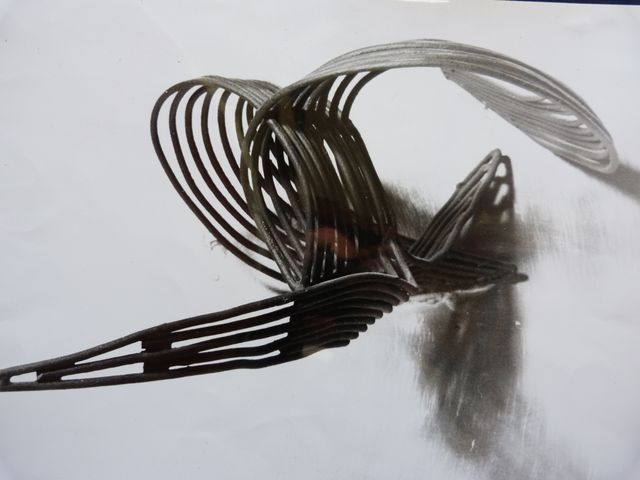 sculpture le Vautour en métal de l'artiste contemporain Georges de Cuzey