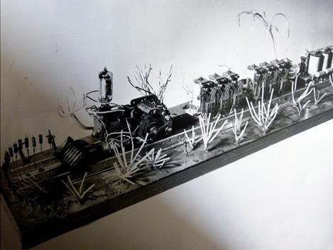Sculpture Le Petit Train du Far West